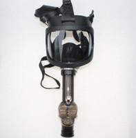 Masque à gaz Bong NEW arrivel eau Shisha Acrylique pipe Sillicone Masque Tabac Narguilé Tubes Livraison gratuite en gros