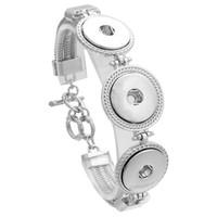 Noosa Topakları metal üç düğmeler kadınlar için 18mm snap düğmesi bilezik snap düğmesi takı