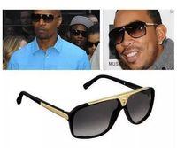 1 Pcs de Alta Qualidade Da Marca óculos de Sol Evidence Óculos de Sol Designer de Óculos Eyewear Das Mulheres Dos Homens Polido Óculos De Sol Pretos vêm com caixa caso