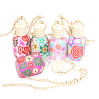 essential oil bottle car pendant glass+ polymer clay reuse gl...