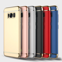 3 in 1 Case Matte Frosted Electroplating Hard PC Cover Armor...