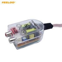 Feeldo Auto Line Out Converter Audio Sound Sound Subwoofer Styling Car Głośnik do adaptera RCA Wysokie do niskich gniazd # 2383 \ t