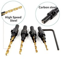 Screw Hole Size Countersink Drill Bit Set with 1 4 Round Sha...