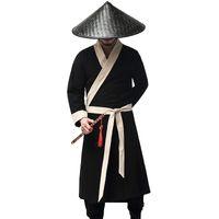 Китайский древние костюмы мужской черный халат необычные карнавал Хэллоуин одежда Мужская hanfu ТВ фильм performerce этап одежда восточная одежда