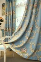 Luxus im europäischen Stil Wohnzimmer Luxus Verdickung Chenille Jacquard amerikanische pastoralen Vorhang fertigen Schlafzimmer Schatten Tuch
