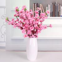 인공 복숭아 나무 벚꽃 봄 매 화 복숭아 꽃 지점 실크 꽃 나무 웨딩 파티 장식 꽃 홈 테이블 센터 피스