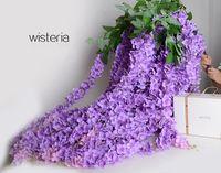 1.6 metri di seta artificiale flower wisteria vite rattan per centrotavola di nozze decorazioni bouquet ghirlanda ornamento casa ornamento