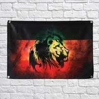 Bob Marley Drapeau Bannière Polyester 144 * 96cm Accrocher au mur 4 œillets Drapeau Personnalisé Intérieur Peinture Rétro Lion