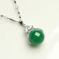 Природный кристалл красный агат нефрит ожерелье женский нефрит кулон кулон 925 серебряные ключицы цепи подарок на день рождения подруге