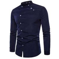 Nueva camisa de viaje de los hombres de la camisa de manga larga de los hombres de Europa y los Estados Unidos camisa de viaje casual a medida