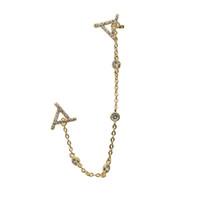 Altın, gül altın, gümüş kadınlar için üç renk uzun damızlık manşet küpe romatic cz İstasyonu zincir püskül moda Üçgen cz manşet takı