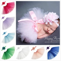 Baby Girls Tutu Dress Solid Color Skirt Dresses Set with Hai...