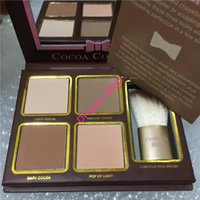 HOT Brand Cocoa Contour Bronzers Evidenziatori Powder Palette Nude Color Shimmer Stick Cosmetics Chocolate Eyeshadow with Brush