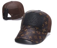 Fashion Leather Baseball Hats New Golf all Cap Dickies Truck...