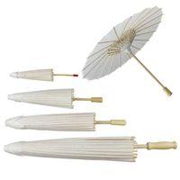 다시 공예 우산 그린 공예 사진 소품 무대와 웨딩 파티 장식 어린이 DIY 예술 손을위한 학교 흰색 종이 우산에
