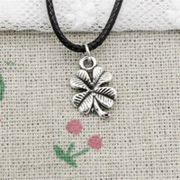 New Durable Black Faux Leather lucky irish four leaf clover ...