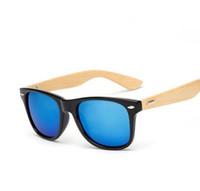 9e9c77d70e26f Atacado-M14 Retro Óculos De Sol De Madeira De Bambu Homens Mulheres  Designer De Marca