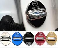 자동차 스타일링 자동 도어 잠금 커버 케이스 Mazda 3 6 2 CX3 CX5 CX7 323 도어 잠금 보호자 자동차 스타일링 액세서리