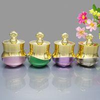5 Gramm Krone Form Leere Glas Nachfüllbar 5 ML Kosmetische Reise Größe Gesichtscreme Flasche Lotion Leeren Topf Container