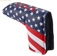 American USA Stars & Stripes Flag Putter Cover Headcover Fre...