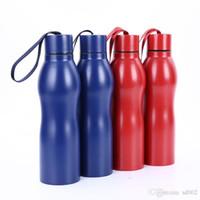 Edelstahl-Wasserflaschen-Kürbis-Form-Hitze-Bewahrungs-Kessel mit Aufzugs-Seil-Deckel für Sport-Geschenk-Schale im Freien Portable Art 35gp ZZ
