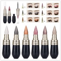 Double- end Eyeliner + glitter Eyeshadow Pencil Makeup 6 Colo...