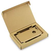 İş Ekspres Çevrimiçi Mağaza Ekspres Teslimat için Kraft Karton Kutu Cep Telefonu Pil temperli cam Telefonu Kılıfı için Packaging