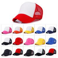 16 colori Kids Trucker Cap Adult Mesh Caps Blank Trucker Cappelli Snapback Cappelli Acept Logo personalizzato