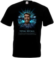 T Shirt Print T Shirt Summer Uomo Total Recall Black T-Shirt Black Poster Tutte le taglie S To 3XL Crew Neck Comfort Soft Shirt manica corta