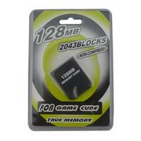 실용적인 32MB 64MB 128MB 메모리 카드 저장 기 NGC CameCube 게임 큐브 GC 콘솔 물집 포장 DHL 페덱스 EMS 무료 배송