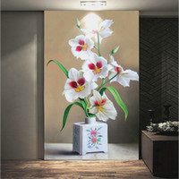 Customize Any Size 3D Photo Flower Wallpaper Murals Watercol...