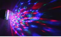 مصغرة e27 3 واط 85-265 فولت 110 فولت 220 فولت السيارات الدوارة المرحلة rgb ضوء led مصباح ل ديسكو الرقص عطلة حزب زينة لمبة