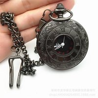 Classic Vintage Charm Unisex Roman Number Pocket watch Steam...