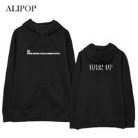 Damen Hoodies Sweatshirts Alipop Kpop Got7 2021 Turn Up Hoodie Hip Hop Casual Cotton mit Hut Bedruckt Langarm WY630