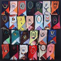 Wholesale A~Z Letters Print Scarves Hijab Headband Tie Bag D...