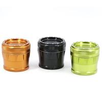 New Colorido 4 Peças de Liga de Alumínio Côncavo 50mm Erva Moedor de Triturador Miller Spice Miller Design Magnético de Alta Qualidade Bonito Mais Forte