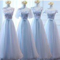 Bridesmaid dresses new long blue sisters dress banquet perfo...