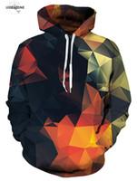 Hip Hop Moletom Ile 3D Hoodies Erkekler Baskı Renk Blokları Şapka Ince Harajuku Grafik Rahat Tişörtü Hoodies Artı Boyutu 4XL Tops