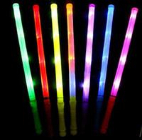 크리 에이 티브 LED 라이트 형광 스틱 어두운 플라스틱 깜박 막대기 콘서트 파티 웨딩 장식 핫 판매 SN1606 깜박이