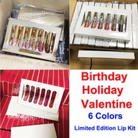 6 Colors set Birthday lipstick Holiday lip gloss Valentine M...