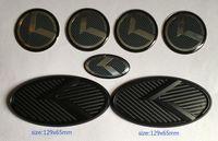 Бесплатная доставка новый 3D черный углеродного герба знак к 7шт/комплект подходит для Kia новый Forte Ярд К3 2014-2015 /авто эмблемы/3D наклейка