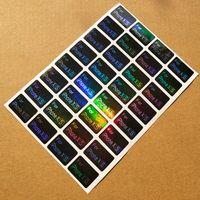 2.2x1.5cm Laser Etikett Mobiltelefon Modell Klistermärke Självhäftande belagd papper Klistermärke Anpassad etikett Logo Varumärke
