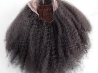 Nuovo arrivo Virgin Virgin Remy Brasiliano capelli pizzo anteriore pieno pizzo Afro ricci parrucche naturali di colore nero morbidi capelli del bambino