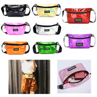 9 Colors Laser Fanny Packs Bags Belt Outdoor Beach Running T...