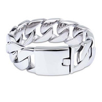 26mm 31mm Heavy Fashion titanium steel bracelet men' s s...