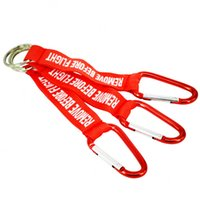 Remove Before Flight Key Chain Red Keychain Woven Letter Keyring Jewelry Pilot Tags OEM Outdoor Sport Key Ring Safety Tag