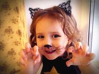 10pcs Kadın saç kedi kulakları Kafa Tiara Crown Princess hairband içi boş Yapay elmas kedi kulaklar çerçeve saç aksesuarları FG004 tasmaları