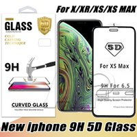 5D Tempered Glass For Iphone XR XS MAX X 8 Plus Curved Scree...