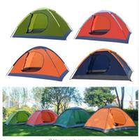 4 colori Pieghevole doppia porta di ribaltamento della pioggia ultra portatile Tenda da campeggio Shelter Escursioni Tenda da campeggio Famiglia Tenda turistica per 2 persone