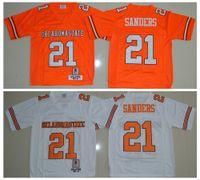 Herren Vintage 1986-1988 Oklahoma Bundesstaat 21 Barry Sanders College Football Jerseys Günstige 21 Barry Sanders University Stitched Football Shirt